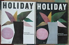October & November 1960 issues HOLIDAY magazine - South Pacific cover articles