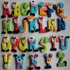 26 pcs Wooden Cartoon Alphabet A-Z Magnets Child Educational Toy 1