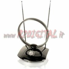 ANTENNA TV DVB-T 38 dB TELEVISORE DIGITALE TERRESTRE AMPLIFICATA DIGITAL HD DTV