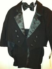 5PC SET BOY BLACK TUXEDO - CHILDREN FORMAL PARTY SUIT SIZE S