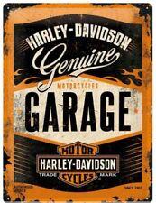 Nummernschild Tafel Metall Gadget Sign Harley Davidson Geschenkidee Logo Garage