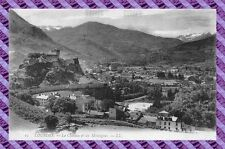 CPA 65 - LOURDES - el castillo y los montañas