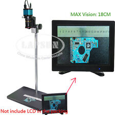 Wide Field 14MP HDMI USB Industry Digital Microscope Camera + Stereo Table Stand