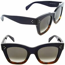 Celine CL 41098/S QLT Z3 Cat Eye Sunglasses Havana Blue/Brown Gradient Lens