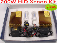 200W HID Xenon Conversion Kit Bulb Lamp Light H1 H7 H3 H11 9005 9006 White 6000K