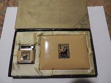 1920's Girey Enamel  Lighter and Cigarette case gift set