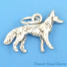 GERMAN SHEPHERD DOG BREED 3D .925 Solid Sterling Silver Charm