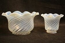Vintage Gas Electric Glass Opalescent Swirl Light Shade Ceiling Sconce Fixture