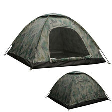 2 Person 4 Season Outdoor Camping Hiking Waterproof Camo Folding Tent Camouflage
