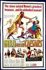 GOLD FOR THE CAESARS MOVIE POSTER Orig Sword and Sandals Gladiator 1sht