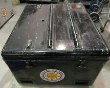 Steel Civil Defense Storage Carrying Container Snap Lid Fold Up Table Military