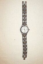 ANNE KLEIN II LADIES BRUSHED STAINLESS WATCH  - NEW BATTERY - MINT CONDITION
