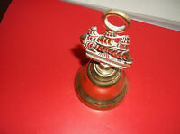 BRASS OR CAST BELL DEPICTING NELSONS   VICTORY SHIP