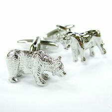 Bull and Bear Cufflinks Stock Market Cuff Links Finance Gemelos 100 For 7 items