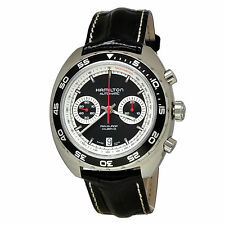 NEW Hamilton Men's H35756735 Pan Europ Auto Chrono Black Watch