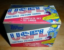 1985 TOPPS USFL FACTORY SET COMPLETE (132) WHITE YOUNG KELLY FLUTIE WALKER NICE