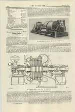 1921 English Electric Company Steam Turbine Improvements