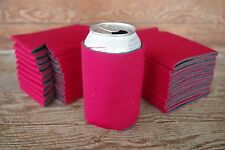 LOT of 25 RED Can Koozies Blank Beer Soda Coolers 12 oz Printable Coolies