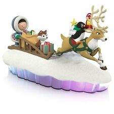 2015 Hallmark HERE COMES FROSTY FRIENDS sled World of Friends MANTELSCAPE piece