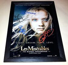 "LES MISERABLES CAST X4 PP SIGNED & FRAMED 12""X8"" POSTER HUGH JACKMAN"
