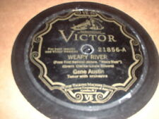 78RPM 2 Victor by Gene Austin, Girl of Dreams/Ramona, Weary River/Song I Love V-