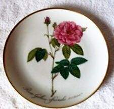 Rose Wall Hanging Plate Rosa Gallica officinalis P. J. REDOUTE 2