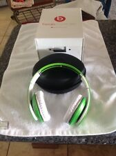 Monster Beats by Dr Dre Studio High Definition Isolation Ear Headphones Green
