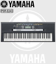 Yamaha PSR-E243 Digital Electronic Keyboard, Yamaha Keyboard with 61 keys + Plug