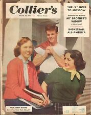 MARCH 15 1952 COLLIERS vintage magazine --- OUR TEENAGERS