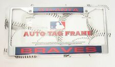 Atlanta Braves Chrome Metal Laser Cut License Plate Frame MLB Baseball New