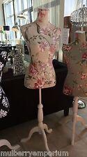 Pretty Beige Floral maniquí Costurera maniquí Cuerpo Stand Ropa Pantalla