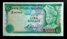 Rm5 Malaysia note 4th series # 62a