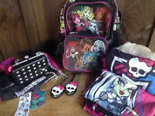 Monster High Charm Keeper Purse Backpack Lunchbox Curtains Walkitalkies Lrg Lot