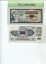 WORLD BANK NOTE - 1981 JUGOSLAVIJE 1000D UNC # B230