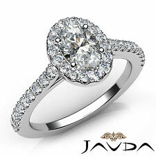 U Cut Prong Set Oval Diamond Engagement Ring GIA Certified D SI1 Platinum 1Ct