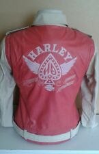 NWT Harley Davidson women's leather jacket Charged pink spade medium 97051-15 VW