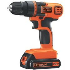 "Black and Decker LDX120C Lithium 20V MAX 3/8"" Cordless Drill/Driver w/ LED Light"