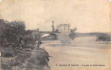 9128) S. LAZZARO DI SAVENA (BOLOGNA) PONTE SUL FIUME SAVEN. ANIMATA VG NEL 1912.