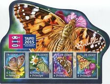 SAO TOME & PRINCEIPE STAMP 2015 BUTTERFLY 30th INT. STAMP EXHIBITION TAIPEI S/S