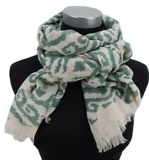 Señora bufanda color beige claro verde by ella Jonte new season scarf Leinen-Optik New en