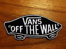 Vans off the Wall SKATEBOARD ฺBLACK & WHITE IRON ON PATCHES