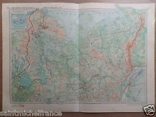 NORTH EUROPE RUSSIA Karelo-Finnish SSR Novaya Zemlya CYRILLIC MAP CARTE 1955