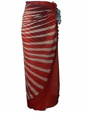 New Burnt Orange Long Sarong One Size Pareo Wrap Cover Up Anita Classix RRP £27