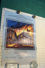 scarce: pre release POSTER--HEROES IN HELL janet morris, 1986,  SIGNED 3 TIMES