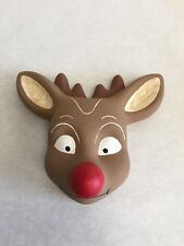 Rudolph Wall Hanging Twist Nose It Plays Music Christmas
