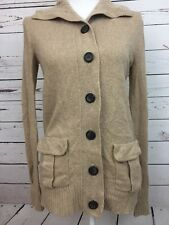 J CREW Beige Long Cardigan Cashmere Blend Women's Size Small