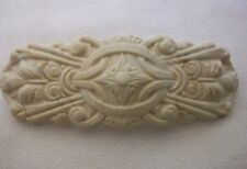 LARGE OFF WHITE HAIR CLIP BARRETTE ANTIQUE FRENCH STYLE