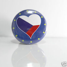 2 Badges Europe [25mm] PIN BACK BUTTON EPINGLE  République tchèque x2