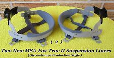 MSA Skullgard Fas-Trac II Hard Hat Liners, NEW, With Metal Clips, No Longer Made