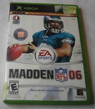 Madden NFL 06 Xbox, 2005 Football, E - Everyone FREE SHIPPING U.S.A.